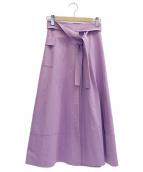 JILL STUART(ジルスチュアート)の古着「アディラップスカート」|パープル