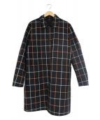 BURBERRY(バーバリー)の古着「リバーシブルステンカラーコート」|ブラック