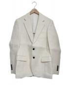 TOMORROW LAND(トゥモローランド)の古着「ペーパーコットンテーラードジャケット」 ホワイト