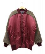 SWAGGER(スワッガー)の古着「リバーシブルボア切替MA-1ジャケット」|ボルドー