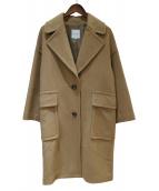 MACKINTOSH PHILOSOPHY(マッキントッシュフィロソフィー)の古着「アンゴラ圧縮ビーバーコート」|キャメル