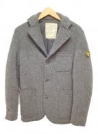 ()の古着「ウールミックス3Bジャケット」 ダークグレー