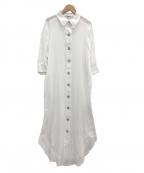 Emma Taylor(エマテイラー)の古着「シェルボタンシャツドレス」|ホワイト