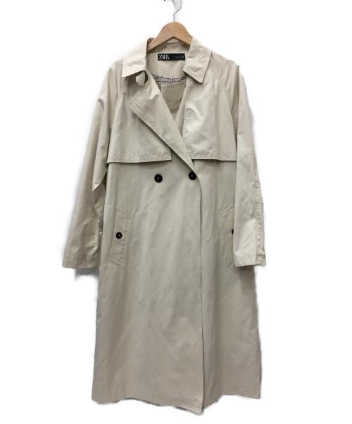 ZARA(ザラ)ZARA (ザラ) トレンチコート アイボリー サイズ:SIZE USA Sの古着・服飾アイテム