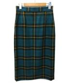 UNITED ARROWS(ユナイテッドアローズ)の古着「W BONOTT タイトスカート」|ターコイズ