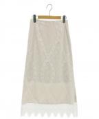 IENA()の古着「パネルレースロングスカート / レーススカート」 ホワイト