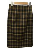 martinique(マルティニーク)の古着「チェックスカート」|マスタード