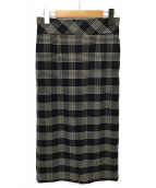 martinique(マルティニーク)の古着「チェックタイトスカート」|ネイビー