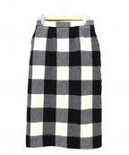 ticca(ティッカ)の古着「チェックタイトスカート」|グレー