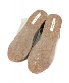 ()の古着「MEDI CLEAR WEDGE SOLE SANDAL」 ブラウン