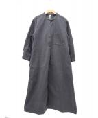 MHL(エムエイチエル)の古着「ソフトコットンチノシャツワンピース」|グレー