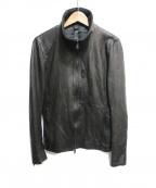 wjk(ダブルジェイケー)の古着「レザージャケット」|ブラック