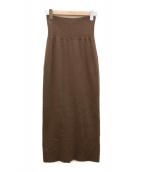 ()の古着「ハーフミラノニットスカート」 ブラウン