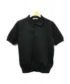 SLOANE(スローン)の古着「ニットポロシャツ」|ブラック