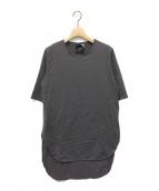 ATON(エイトン)の古着「ラウンドヘムTシャツ」|グレー