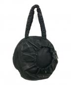 kawa-kawa(カワカワ)の古着「レザーサークルトートバッグ」|ブラック