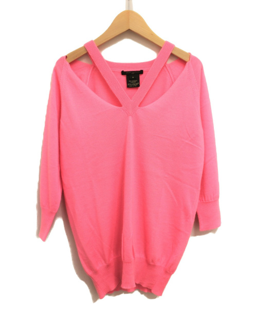LOUIS VUITTON(ルイヴィトン)LOUIS VUITTON (ルイヴィトン) カシミヤVネックニット ピンク サイズ:Sの古着・服飾アイテム