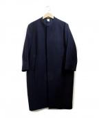 NO CONTROL AIR(ノーコントロールエアー)の古着「ウールノーカラーコート」|ネイビー