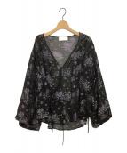 mame kurogouchi(マメ クロゴウチ)の古着「ジャガードブラウス」|ブラック