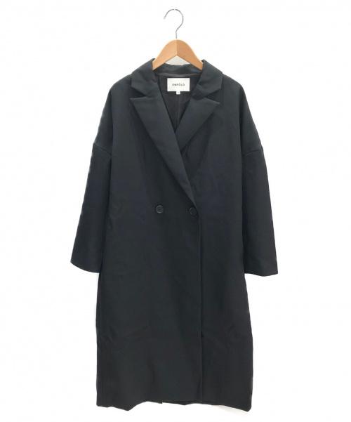 ENFOLD(エンフォルド)ENFOLD (エンフォルド) BOXシルエットテーラーコート ブラック サイズ:36の古着・服飾アイテム