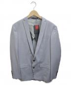 ato(アトゥ)の古着「トロピカルストレッチ2Bジャケット」 スカイブルー