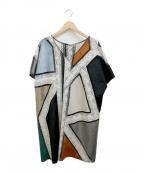 GRACE CONTINENTAL()の古着「パッチワーク刺繍ワンピース」 ホワイト