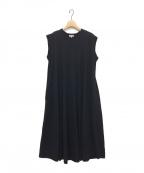 YORI(ヨリ)の古着「Aラインカットソーワンピース」|ブラック