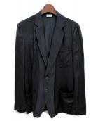 DRIES VAN NOTEN(ドリスヴァンノッテン)の古着「レーヨン切替ジャケット」|ネイビー×ブラック