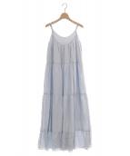 Relax by Calmere(リラックスバイカルミア)の古着「ラウンジドレス」|アイスブルー