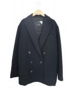 ATON(エイトン)の古着「ピークドラペルジャケット」|ブラック