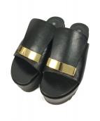 sergio rossi(セルジオロッシ)の古着「厚底サンダル」|ブラック