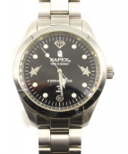 A BATHING APE(アベイシングエイプ)の古着「腕時計」|ブラック