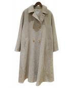 MaxMara(マックスマーラ)の古着「ウールカシミヤ混コート」|ベージュ