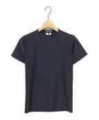 JUNYA WATANABE COMME des GARCONS(ジュンヤワタナベ コムデギャルソン)の古着「20SS サテンTシャツ」|ブラック