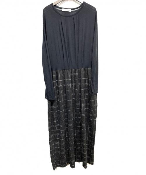 un-namable(アンネバブル)un-namable (アンネバブル) 切替ワンピース ブラック サイズ:42の古着・服飾アイテム