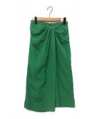 GALLARDA GALANTE(ガリャルダガランテ)の古着「ツイストタイトスカート」|グリーン