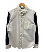 ()の古着「ベースボールBDシャツ」|ホワイト×ネイビー