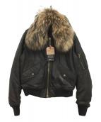 Raw+(ロウタス)の古着「ファー付MA-1ジャケット」 ブラック