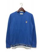 MAISON KITSUNE(メゾンキツネ)の古着「フォックスヘッドパッチスウェット」|ブルー