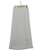 ()の古着「POPPYプリーツマキシスカート」|ベージュ