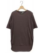ATON(エイトン)の古着「Tシャツ」|ブラウン