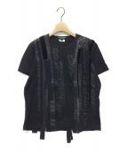 JUNYA WATANABE COMME des GARCONS(ジュンヤワタナベ コムデギャルソン)の古着「14AW 装飾Tシャツ」|ブラック