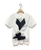 COMME des GARCONS(コムデギャルソン)の古着「16SS リボンデザインTシャツ」|ホワイト