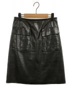 ()の古着「レザースカート」 ブラック