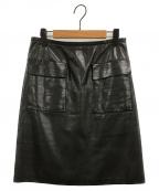 3.1 phillip lim(スリーワンフィリップリム)の古着「レザースカート」 ブラック