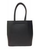 土屋鞄(ツチヤカバン)の古着「ブラックヌメトートバッグ」|ブラック