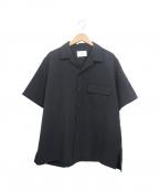 stein(シュタイン)の古着「ウールギャバジンダウンパターンS/Sシャツ」|ブラック