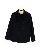 ()の古着「ハイネックコート」|ブラック