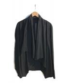 ()の古着「ショールカラーコットンジャケット」 ブラック