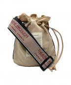 THEATRE PRODUCTS(シアタープロダクツ)の古着「ジャガードテープ巾着バッグ」 ベージュ